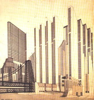 M. Chiattone, costruzioni per una metropoli moderna - 1914, Pisa